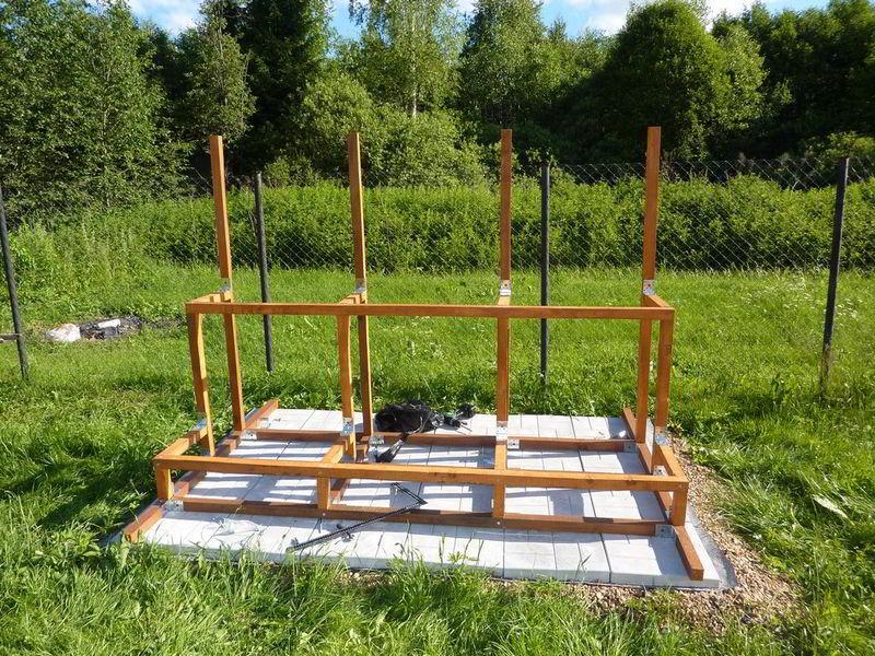 каркас-подставка для солнечного коллектора