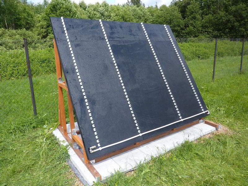 черное полотно для монтаж солнечного коллектора крепления