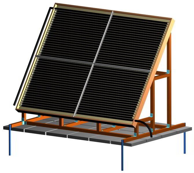 макет солнечного коллектора 3D