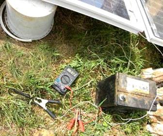 замеры солнечной батареи
