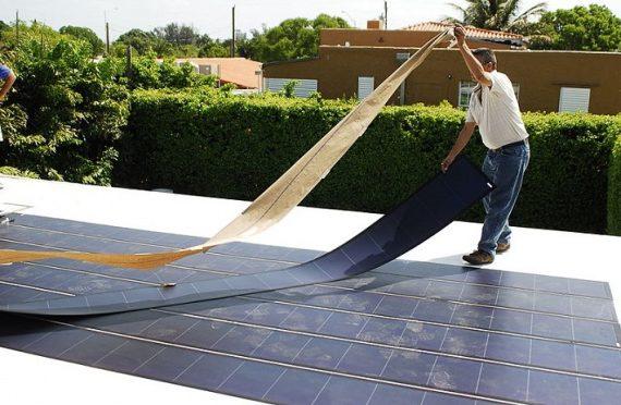 гибкие солнечные батареи вместо кровли