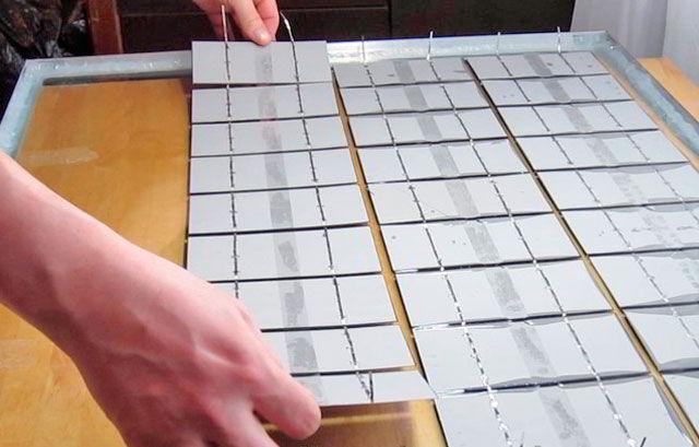 укладываем солнечные панели в компаунд
