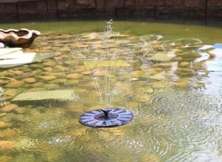 фонтан на солнечной батарее плавающий