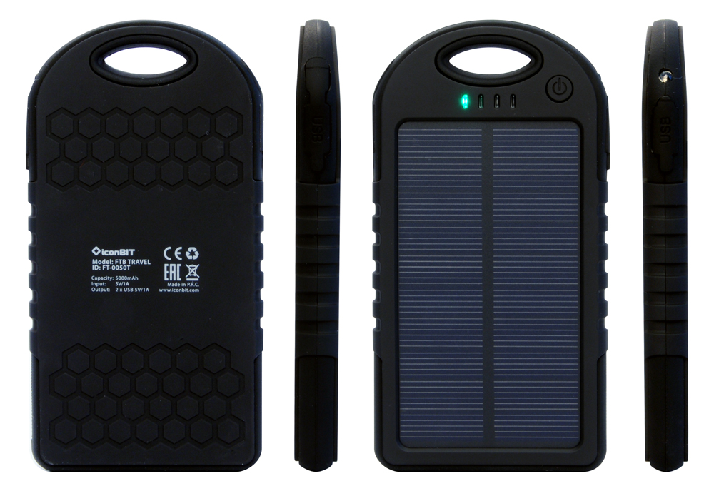 iconBIT FTBTravel зарядка к телефону на солнечных батареях