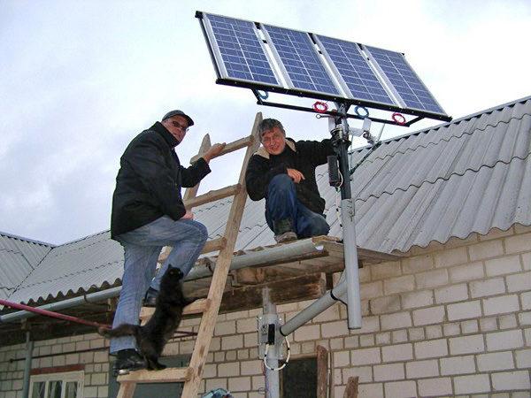 установка солнечных батарей своими руками