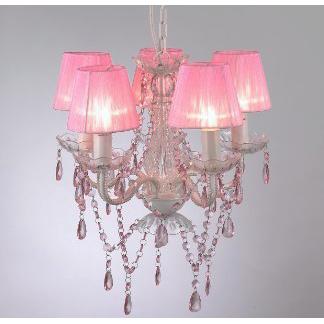 Розовый цвет в освещении