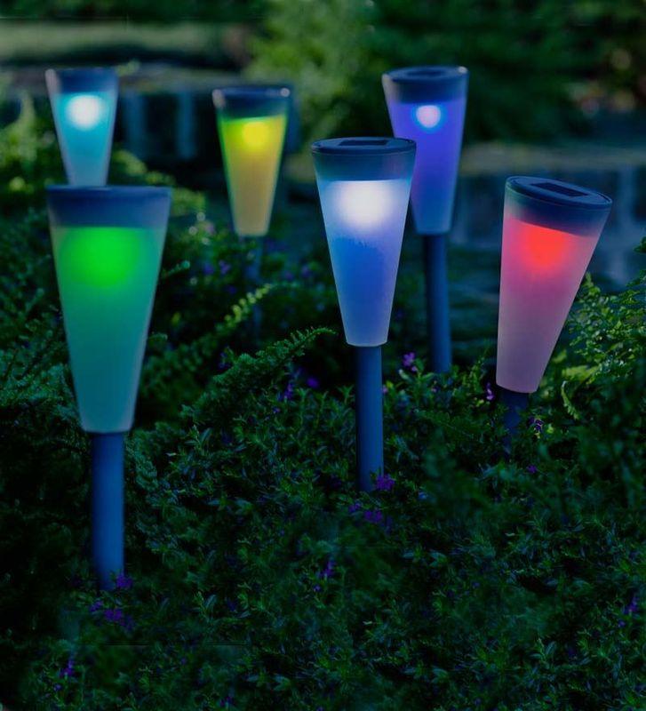 садовые светильники и фонари на солнечных батареях начинают