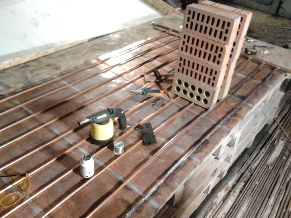Делаем солнечный коллектор из медных трубок