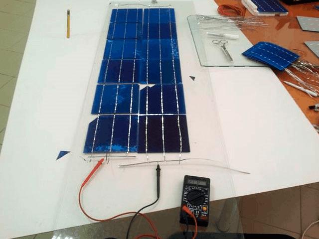 сборка солнечных панелей без корпуса
