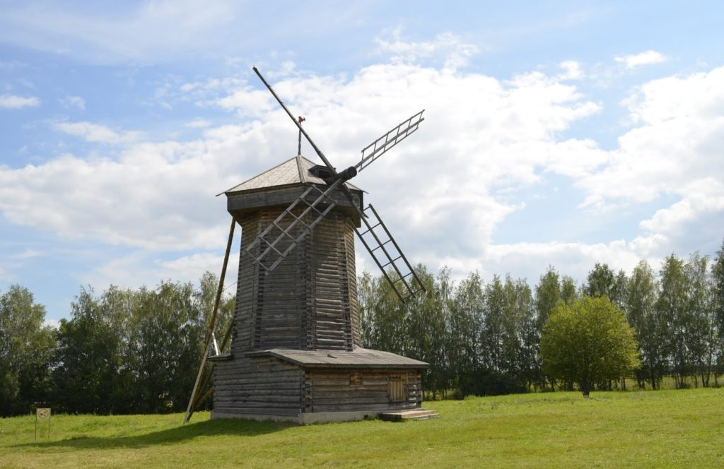 Ветряные двигатели - от средних веков